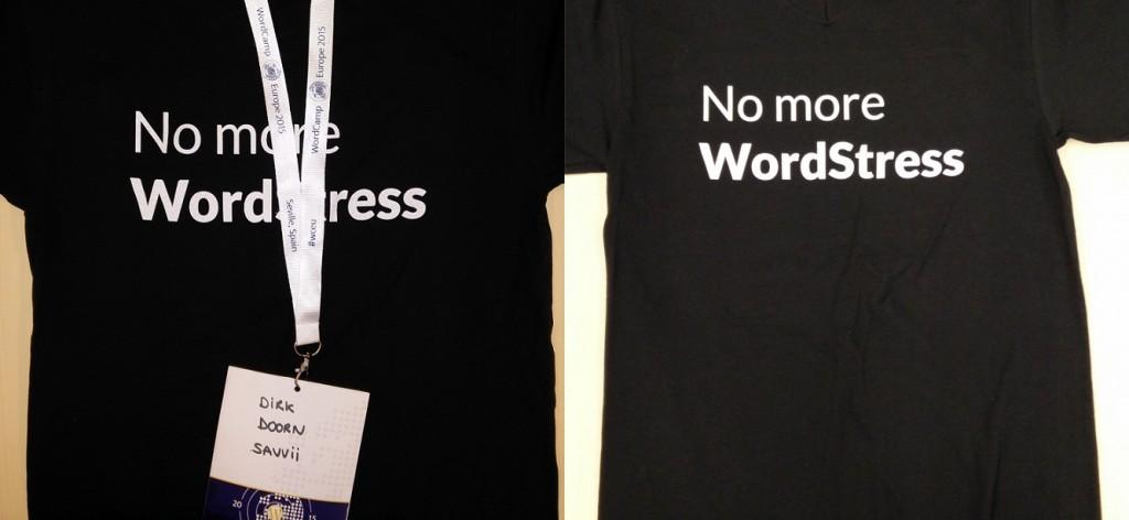 No More WordStress t-shirts