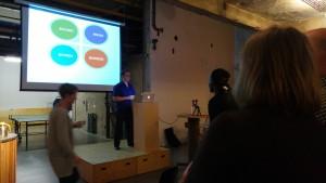 Rogier op WordPress Meetup Rotterdam