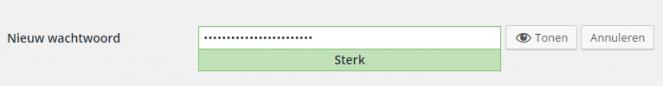 Sterk wachtwoord wordpress beveiligen