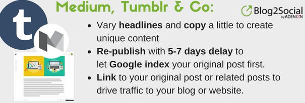 Medium Tumblr WordPress