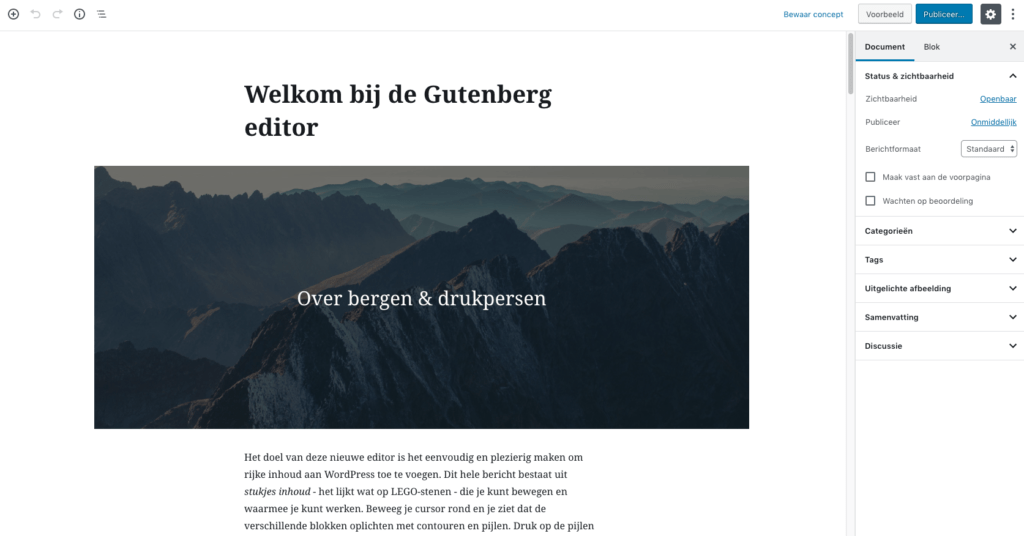 Gutenberg screenshot
