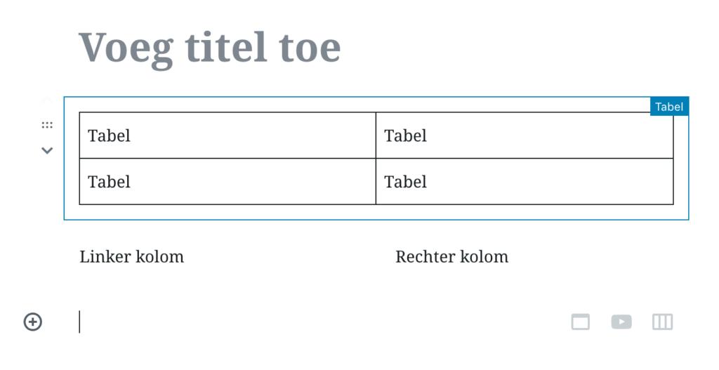 Tables-columns