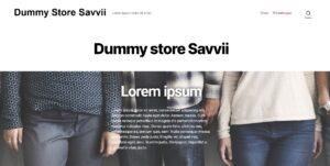 Dummy webshop Savvii
