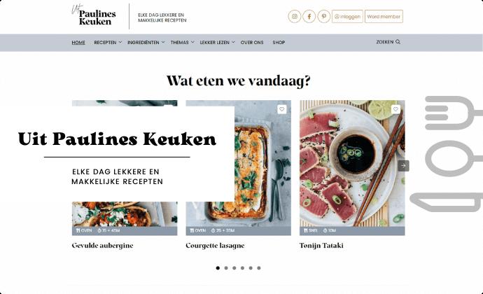 Uitpaulineskeuken website homepage
