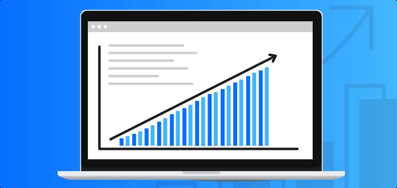 Stijging ezoekersaantallen WordPress website