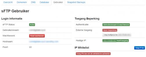 sFTP whitelist