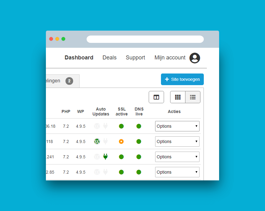 Design concept for the new Savvii Admin Panel