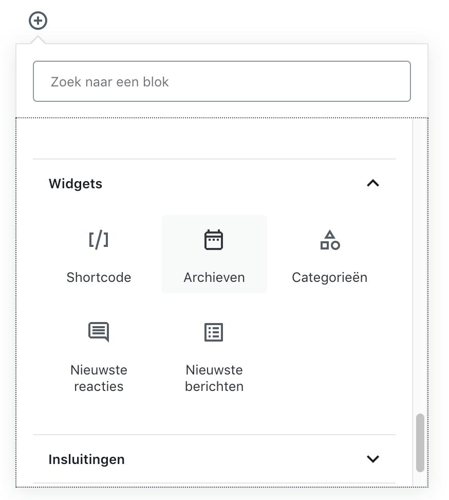 Widgets-Gutenberg