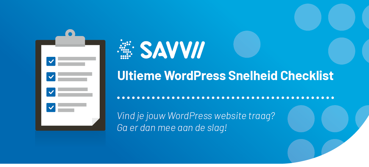 WordPress Snelheid checklist
