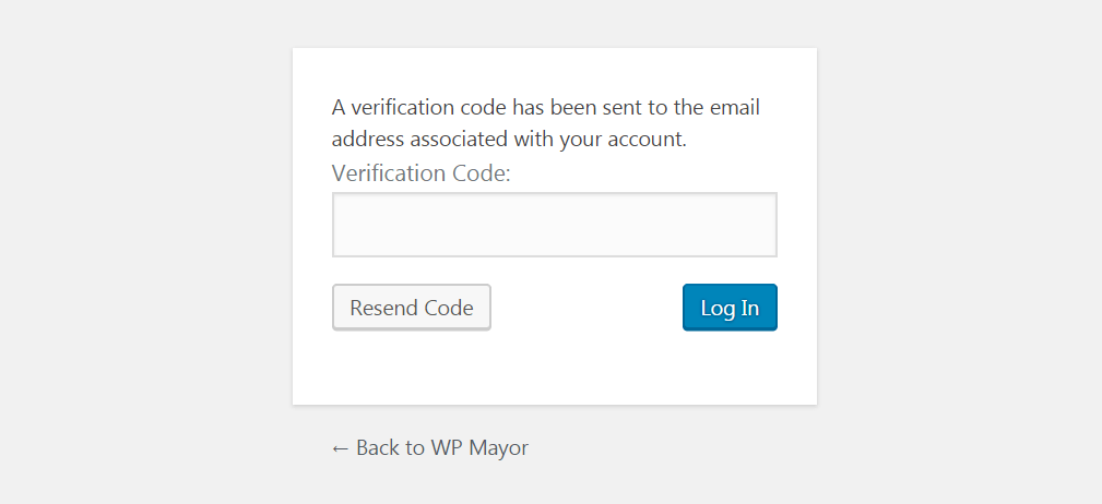 An example of two-factor authentication.