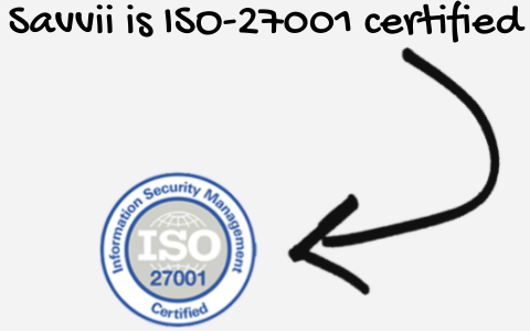 Savvii is ISO 27001 certified